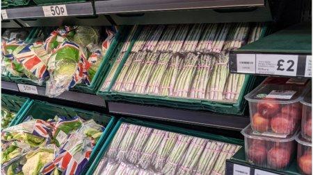 Magazinele din Marea Britanie pun fotografii cu alimente pentru a ascunde rafturile goale