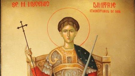 Azi e sarbatoarea Sfantului Mucenic Dimitrie, mare facator de minuni. Ce e benefic sa faceti azi