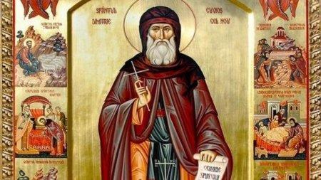 Calendar ortodox 27 octombrie 2021. Sarbatoare cu cruce rosie de Sfantul Dimitrie