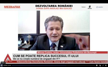 Videoconferinta <span style='background:#EDF514'>MEDIA</span>fax Dezvoltarea Romaniei: Vom avea un deficit de 600 - 700 de mii de ingineri in 10 ani. Romania nu are destui profesori de informatica