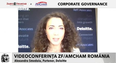 Videoconferinta ZF AmCham Romania - Guvernanta Corporativa - de la buzzword la pilon strategic pentru dezvoltarea sustenabila, editia a 2-a  Alexandra Smedoiu, Partener, Deloitte: Tendinta <span style='background:#EDF514'>GENERAL</span>izata pe zona de ESG porneste de la marile companii, in special companiile listate. In cele din urma, aceasta se va translata in reguli pe care le vor aplica cu totii