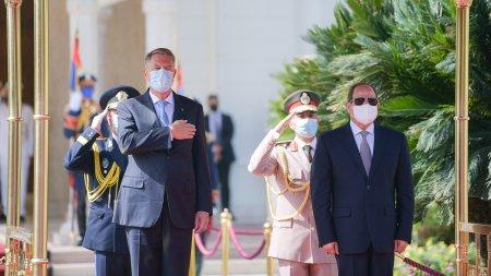 Iohannis: Romania, ca si Egiptul, este interesata de stabilizarea situatiilor de criza din Orientul Mijlociu, de gestionarea migratiei