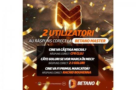 Cate 7.500 de lei in Free Bet-uri pentru cei doi utilizatori care au raspuns corect la Betano Master
