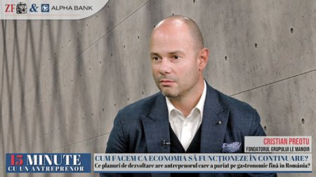 ZF 15 minute cu un antreprenor. <span style='background:#EDF514'>CRIS</span>tian Preotu, Le Manoir: Cele mai bune investitii se fac in criza. Vrem sa deschidem mai multe magazine, avem un buget de investitii de 1-2 mil. euro pentru 2022