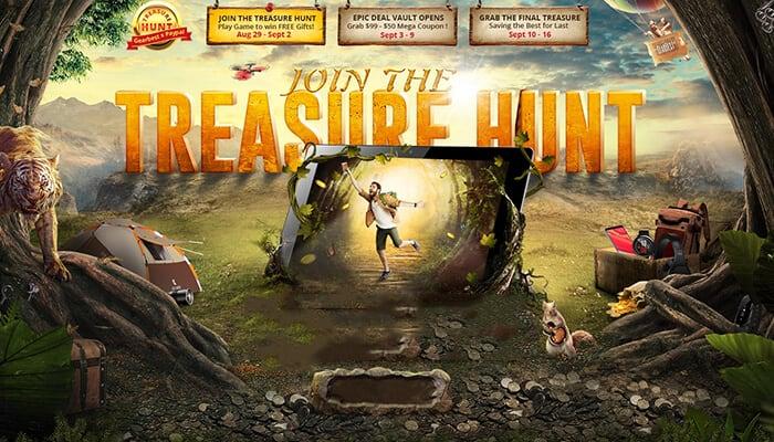 A inceput vanatoarea de comori - Treasure Hunt GearBest.com (P)